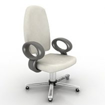 Armchair for office 3d model