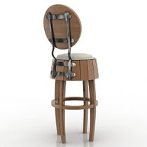 Chair bar bear 3d model