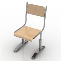 Chair school 3d model