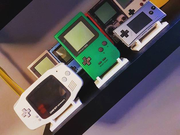 Gameboy Display Stand Free 3d Models