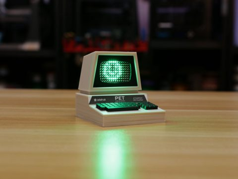 Mini Commodore PET with Charlieplexed LED Matrix 3D model