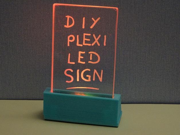 Plexiglas Led Sign Downloadfree3d Com