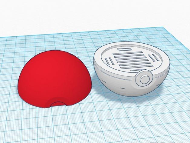 Pokemon Pokeball Sd Card Holder Downloadfree3d Com