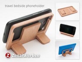 Travel Bedside Phoneholder cnc/laser 3D model