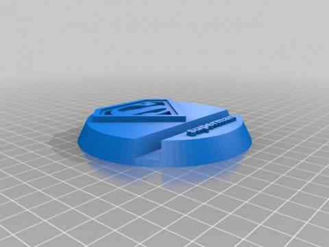 Superman smartphone stand 3D model