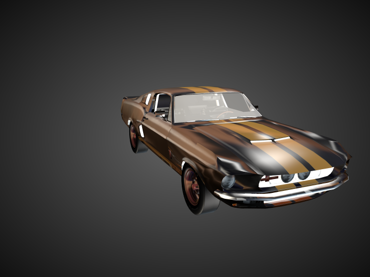 1967 Shelby Ford Mustang 3D model