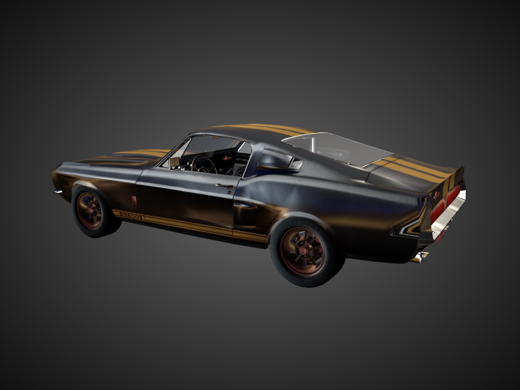 3D 1967 Shelby Ford Mustang model