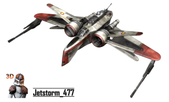 Star Wars ARC-170 Fighter 3D model