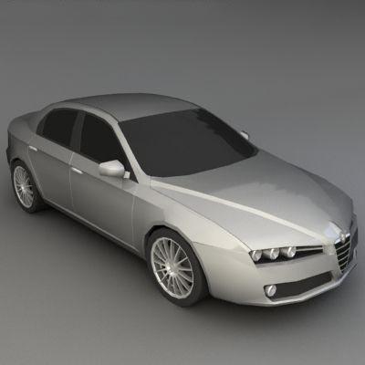 3D Alfa Romeo 159 model