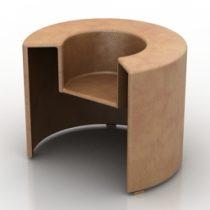 Armchair charlotte Prodotti Horm 3d model