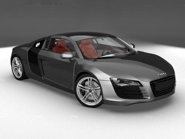 3D Audi R8 model