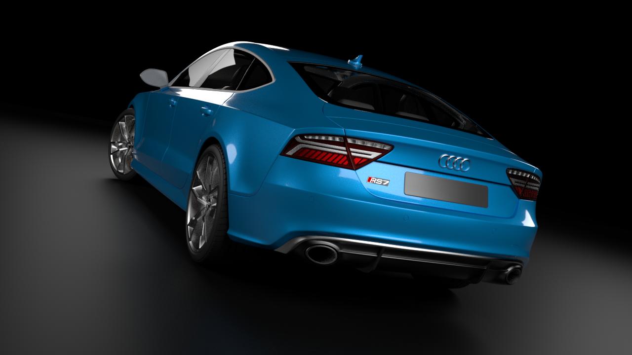 3D Audi RS7 Sportback Perfomance model