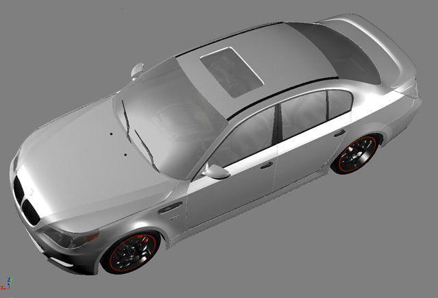 3D BMW M5 model
