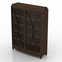 Barbara Barry Open Oval China cupboard 3d model