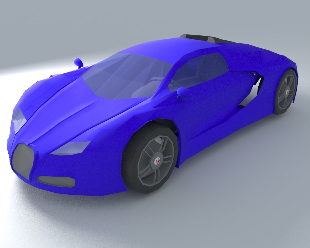 Bugatti Veyron Low Poly 3D model