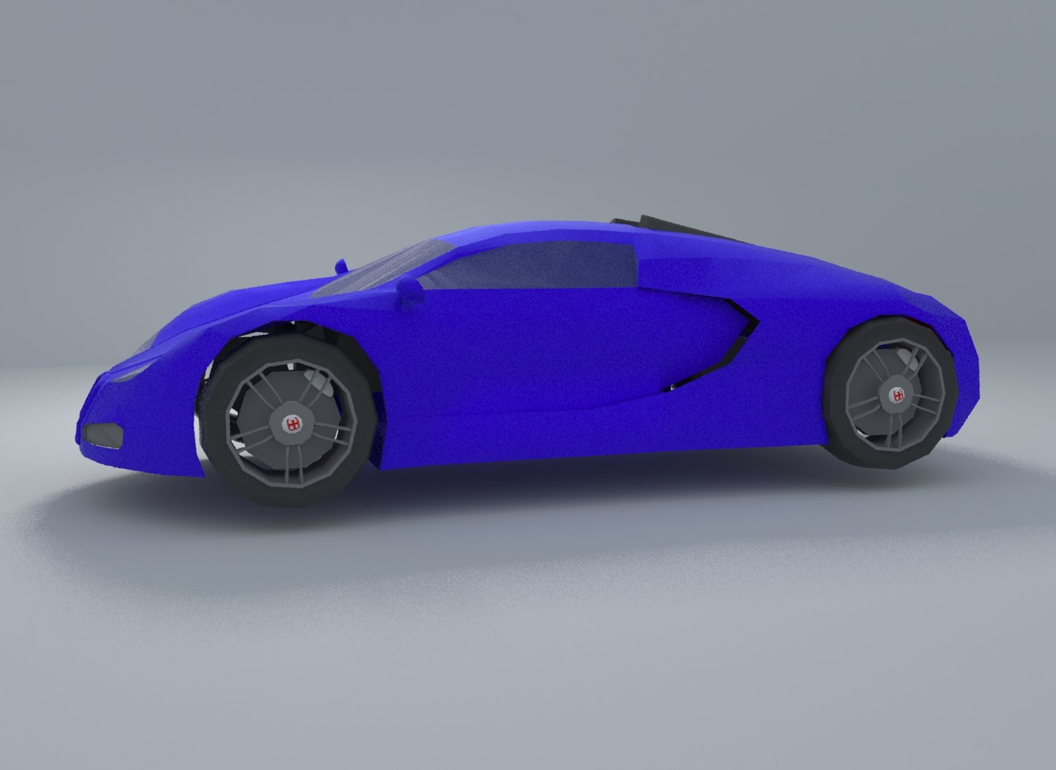 3D Bugatti Veyron Low Poly model