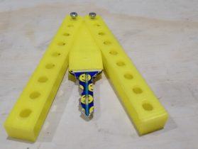 Butterfly Knife Key Holder 3D model
