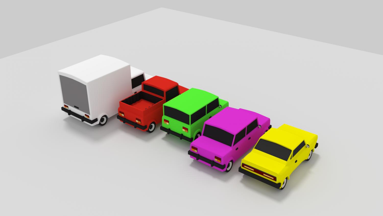 3D Car pack cartoon model