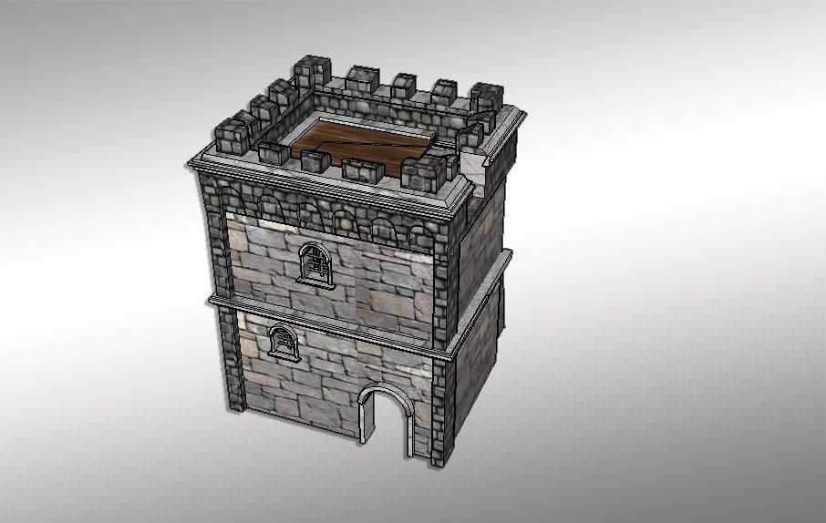 Castle tower 3D model