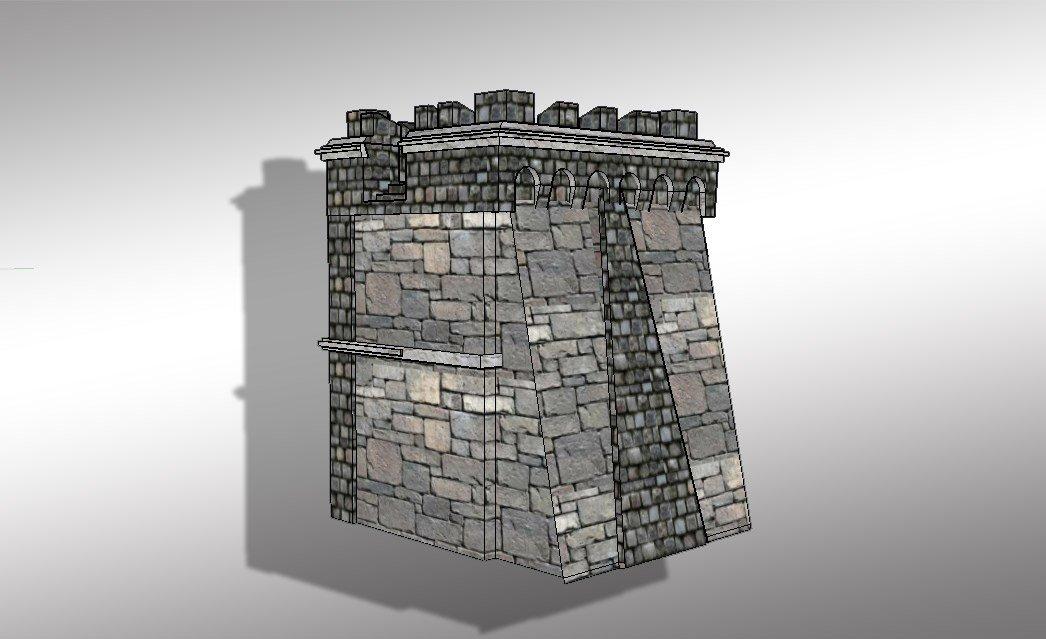 3D Castle tower model