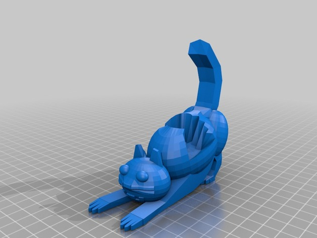 3D Cat phone holder model