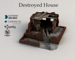Destroyed house 3D model