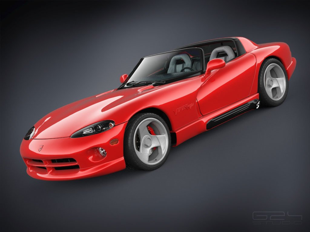 Dodge Viper Rt10 1992 Free 3d Models