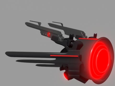 Evil spy drone 3D model