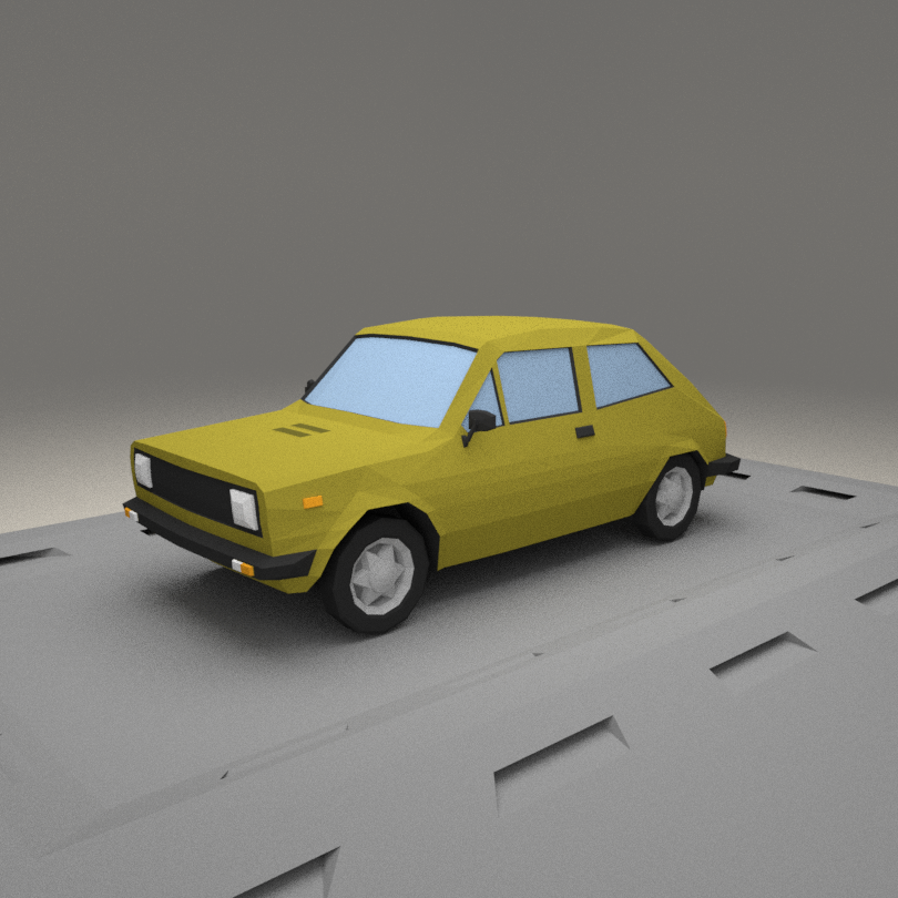 3D Fiat 127 A model