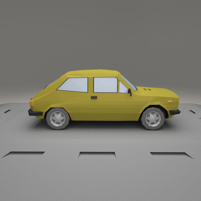 Fiat 127 A 3D model