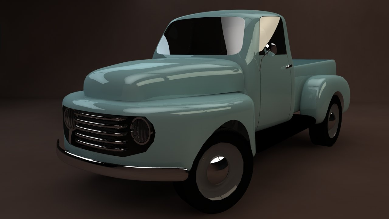 Ford F-1 pickup low-poly 3D model