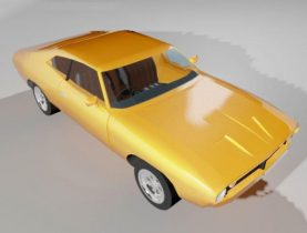 Ford Falcon XB 351 GT Coupe 1973 3D model