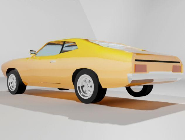 3D Ford Falcon XB 351 GT Coupe 1973 model