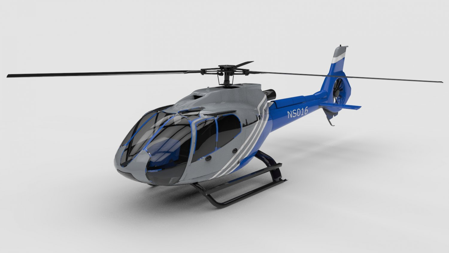 Generic helicopter 3D model
