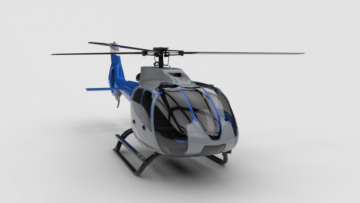 3D Generic helicopter model