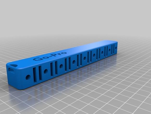 3D Go Pro Hardware Organizer model