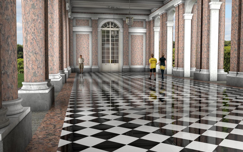 Grand Trianon Colonnade Versailles Downloadfree3d Com