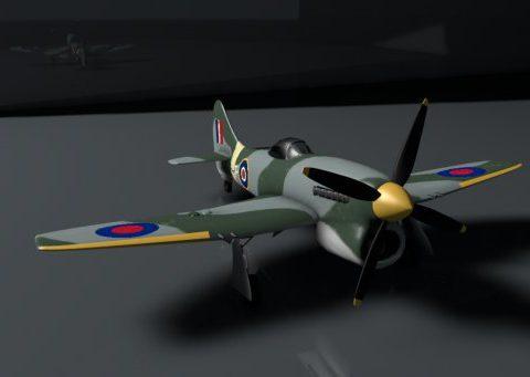 Hawker Tempest Mk.V 3D model