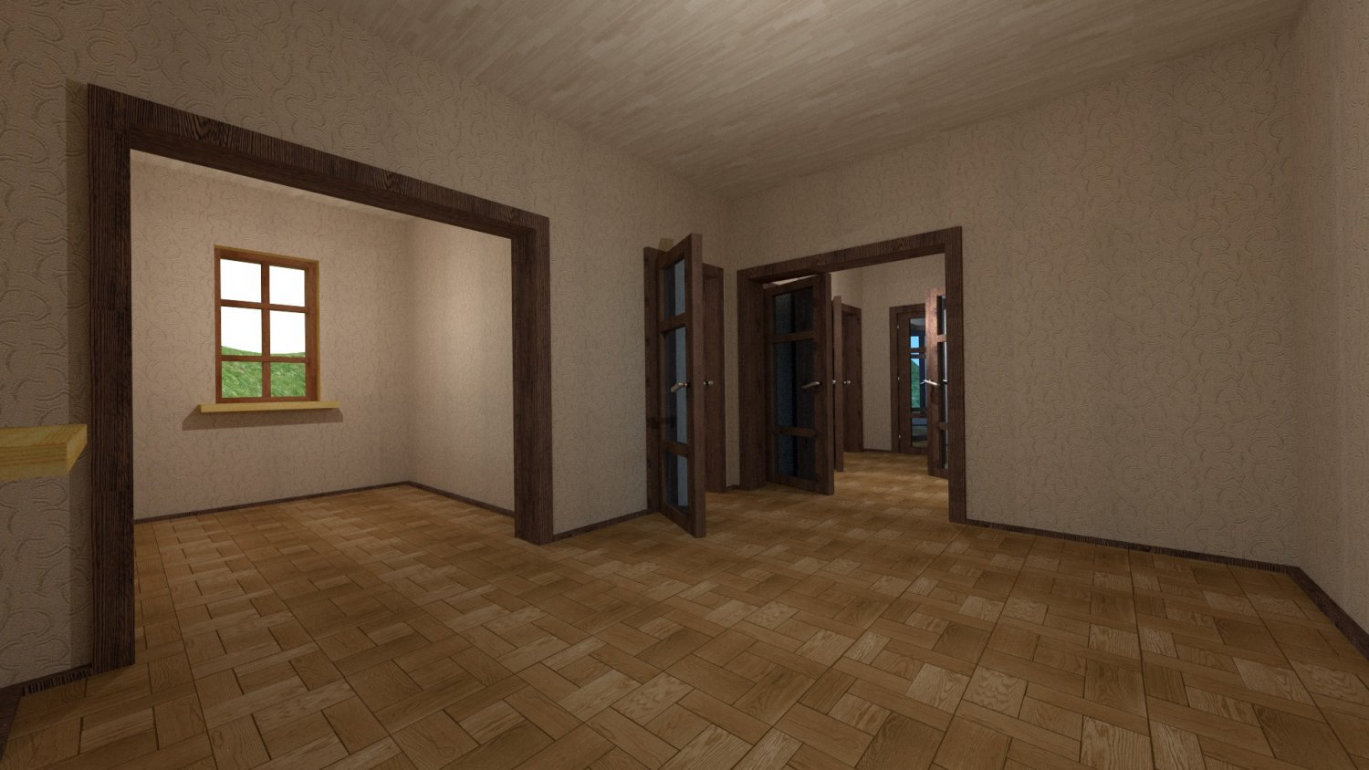 House For An Interior D 095 Empty Rooms Free 3d Models