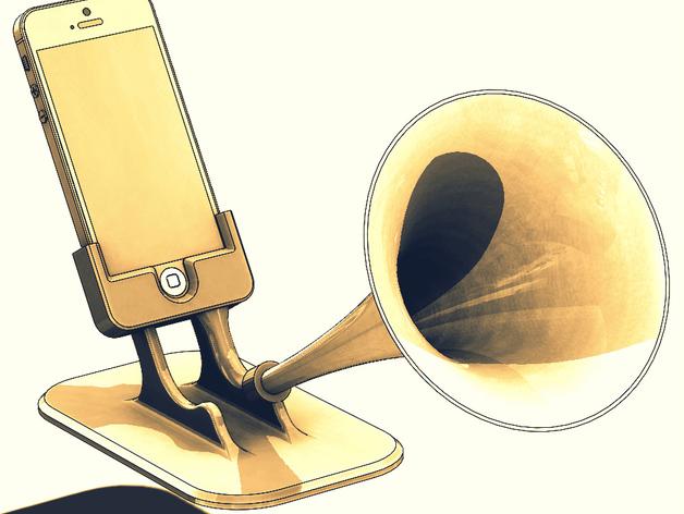 Iphone5 - Iphone SE - Gramiphone  3D model