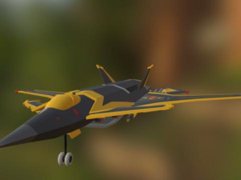 Ks-08 Fighter 3D model