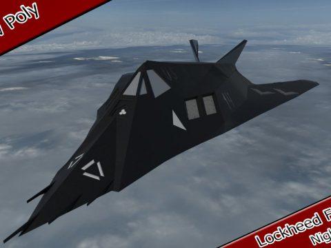3D Lockheed F-117 Nighthawk model