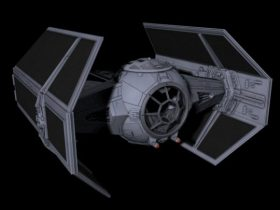 Lord Vader starwars X1 tie-fighter 3D model