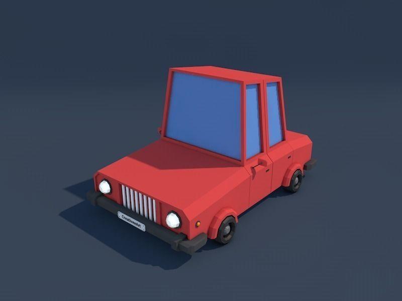 Low Poly Family Car Downloadfree3d Com