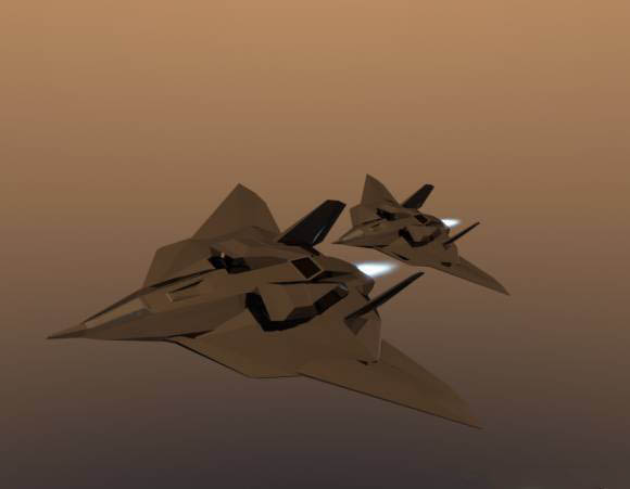 Low Poly Stealth Plane Free 3d Models