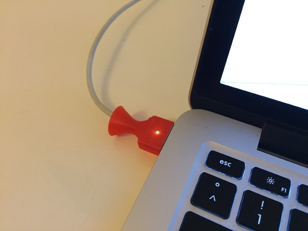 3D MacBook Pro 2014 Cable Saver model
