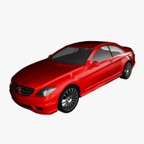 3D Mercedes-Benz CL600 2007 model