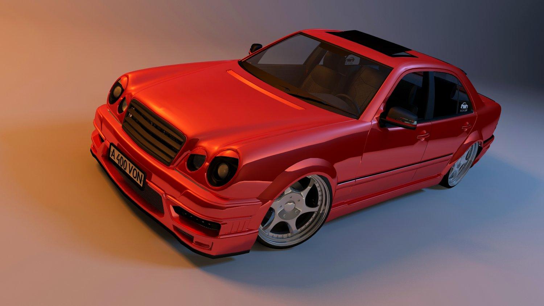 3D Mercedes-Benz E55 Kleemann model