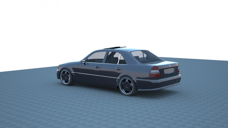 3D Mercedes Benz W202 model