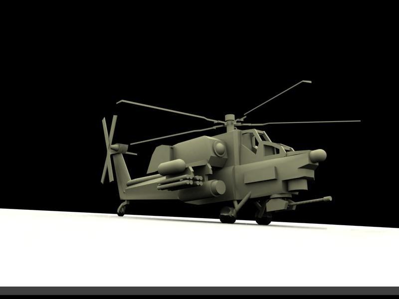 3D Mil Mi28 model